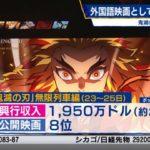 ⻤滅の刃、海外でも⼤⼈気!!公開3日で21億円を記録